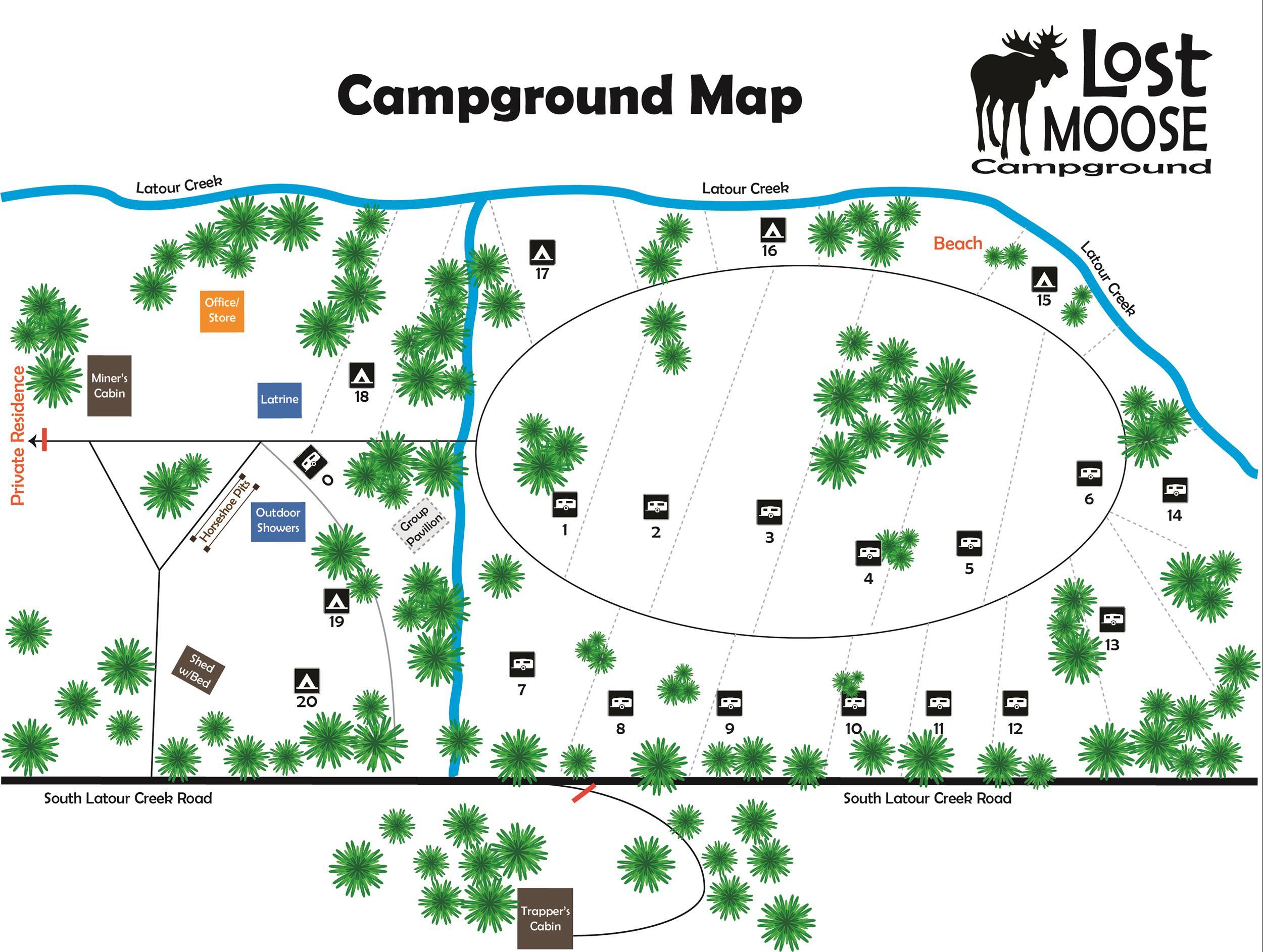 Lost Moose Campground in Cataldo, Idaho - Home
